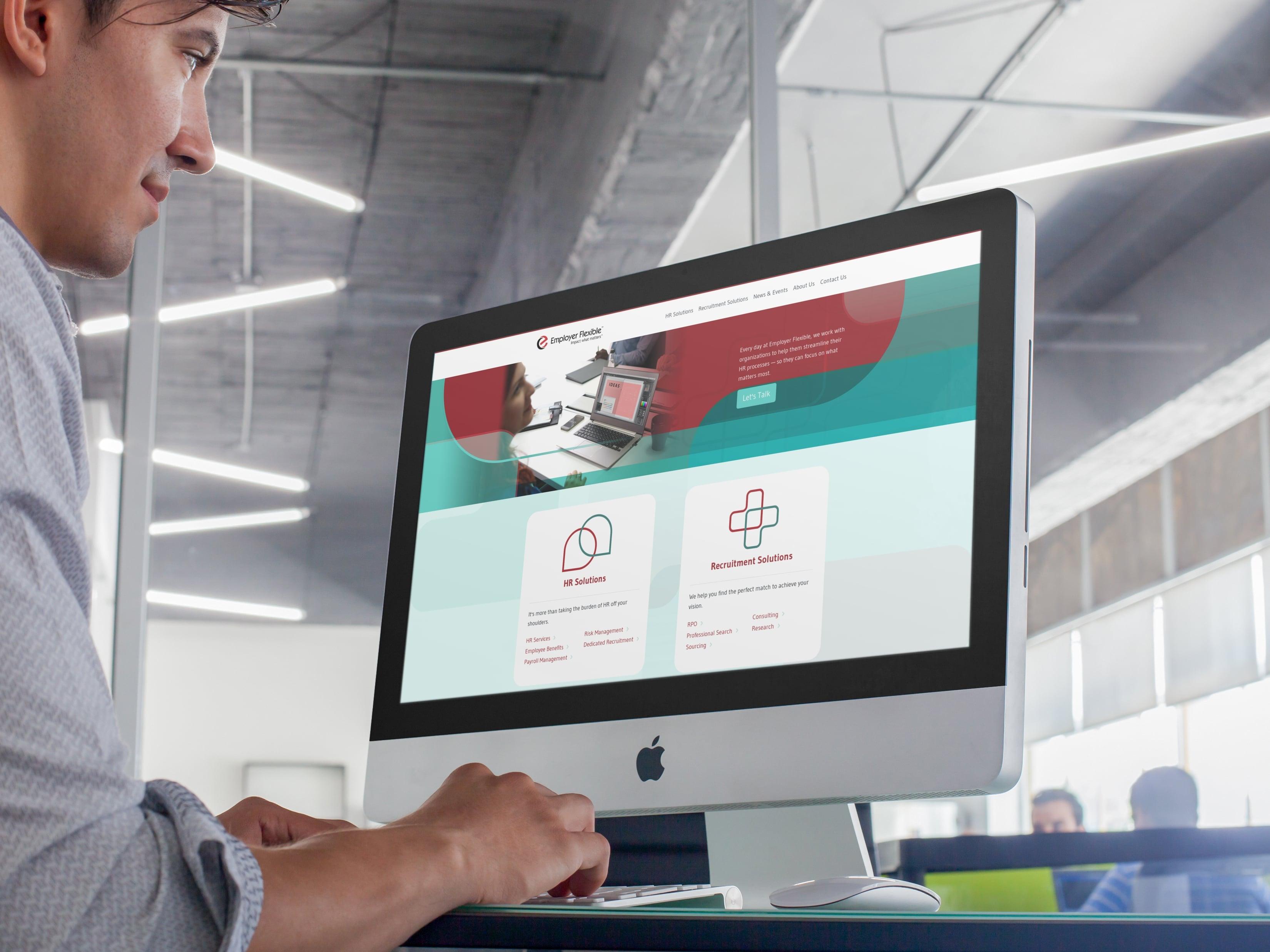 Employer Flexible Website Design by adWhite, desktop view
